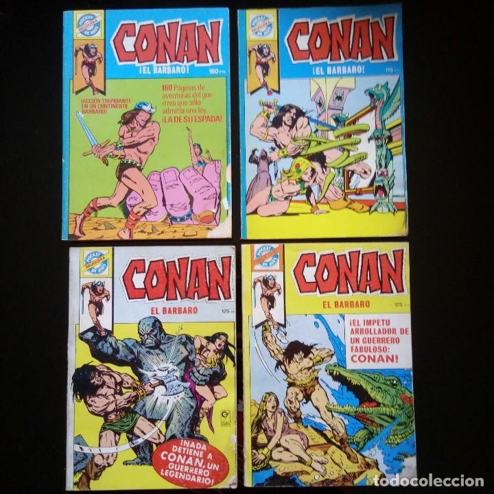 LOTE 4 COMICS CONAN. POCKET DE ASES. BRUGUERA COMPLETA (Tebeos y Comics - Bruguera - Otros)