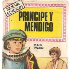 Tebeos: HISTORIAS INFANTILES. Nº 37. PRINCIPE Y MENDIGO. MARK TWAIN. BRUGUERA. 1ª EDC. 1969 (ST/). Lote 98211747