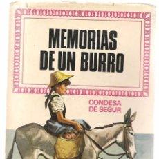 Tebeos: HISTORIAS INFANTILES. Nº 47. MEMORIAS DE UN BURRO. CONDESA DE SEGUR. BRUGUERA. 1ª EDC. 1969 (ST/). Lote 98212083