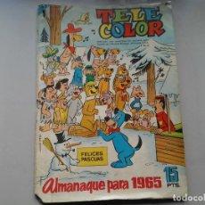 Tebeos: TELE COLOR. ALMANAQUE PARA 1965. FLINSTONES. YOGUI Y BUBU. JINKS... PIXI Y DIXI...ETC. ILUSTRACIÓN.. Lote 98630059