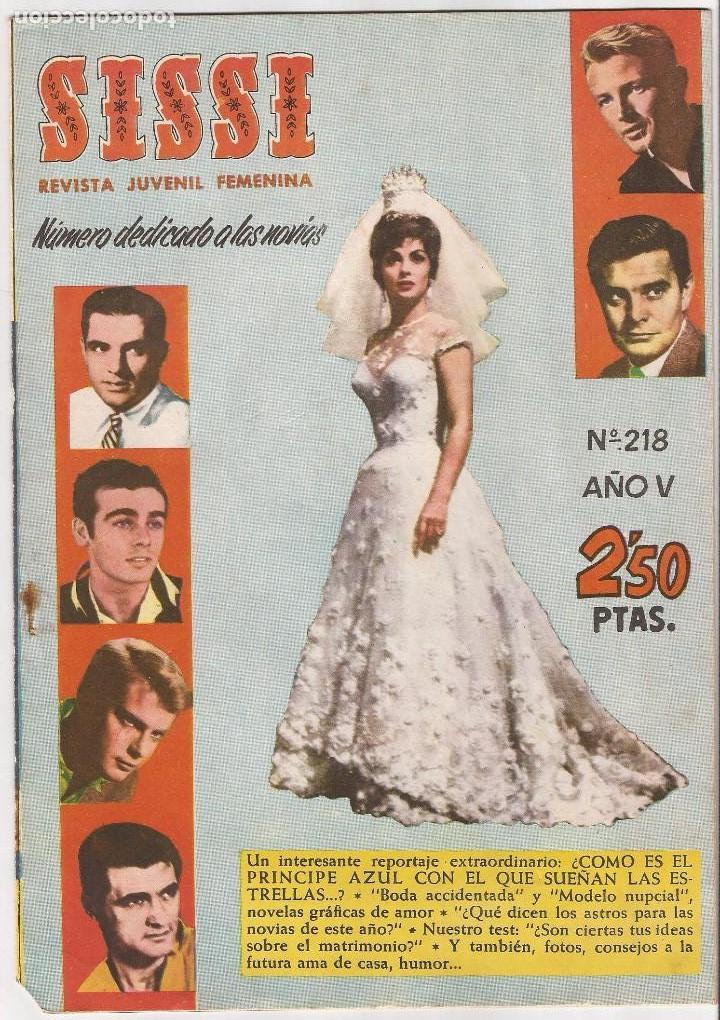 AMG-324- REVISTA SISSI DIDICADO A LAS NOVIAS Nº 218 (Tebeos y Comics - Bruguera - Sissi)