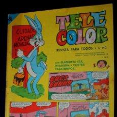 Tebeos: TELE COLOR Nº 142 (SUBASTA SIMULTANEA DE NÚMEROS DIFICILES). Lote 99096355