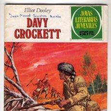 Tebeos: DAVY CROCKETT JOYAS LITERARIAS JUVENILES 41 1979. Lote 99125479