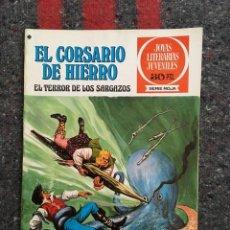 Tebeos: EL CORSARIO DE HIERRO Nº 27 - JOYAS LITERARIAS JUVENILES SERIE ROJA - EXCELENTE ESTADO. Lote 99198859