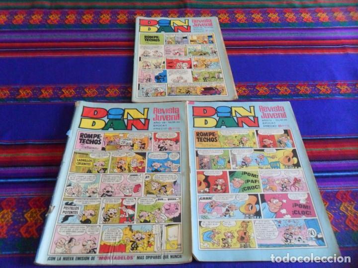 REVISTA JUVENIL DIN DAN NºS 21 144 198 203 254. BRUGUERA 1970. 6 PTS. (Tebeos y Comics - Bruguera - Din Dan)