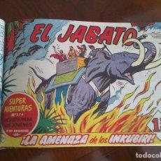 Tebeos: EL JABATO - 53 TEBEOS ORIGINALES APAISADOS ENCUADERNADOS - DEL 106 AL 158 (COMPLETO). Lote 99414291