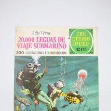Tebeos: JOYAS LITERARIAS/20.000 LEGUAS DE VIAJE SUBMARINO Nº 4 ED BRUGUERA -AÑOS 70- MEDIDAS 18,5 X 26,5 CM. Lote 99500843