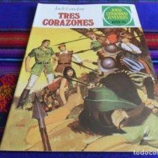 BDs: NUEVO. JOYAS LITERARIAS JUVENILES Nº 249 TRES CORAZONES. BRUGUERA 1981. 55 PTS.. Lote 99973827