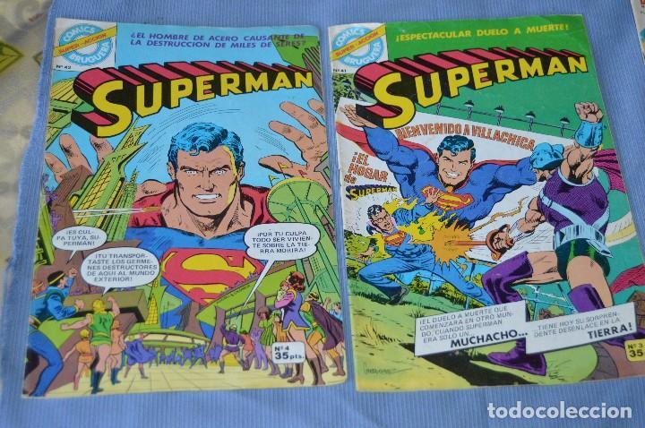 LOTE 2 COMIC - SUPERMAN - COMICS BRUGUERA - FINALES AÑOS 70 - NÚM: 3 Y 4 - ¡MIRA! (Tebeos y Comics - Bruguera - Otros)