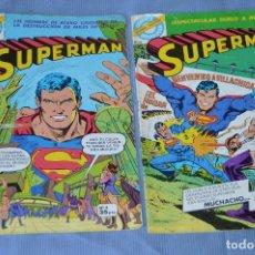 Tebeos: LOTE 2 COMIC - SUPERMAN - COMICS BRUGUERA - FINALES AÑOS 70 - NÚM: 3 Y 4 - ¡MIRA!. Lote 100071099