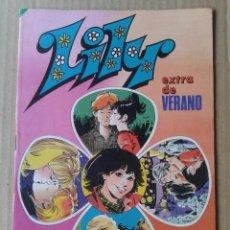 Tebeos: LILY EXTRA DE VERANO. EDITORIAL BRUGUERA, 1983. INCLUYE PÓSTER DE REGALIZ.. Lote 100312688