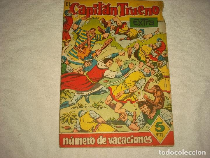 EL CAPITAN TRUENO EXTRA , NUMERO DE VACACIONES . LOS GUERREROS DE WATSYRA 1960 (Tebeos y Comics - Bruguera - Capitán Trueno)