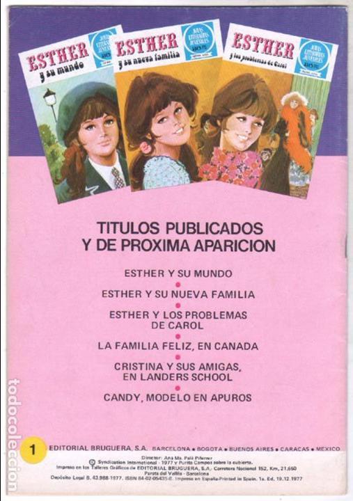 Tebeos: ESTHER Y SU MUNDO Nº 1 - IMPECABLE - Foto 3 - 100652739