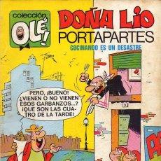 BDs: DOÑA LIO PORTAPARTES **** COLECCIÓN OLÈ NÚMERO 27 *** EDITORIAL BRUGUERA 2ª EDICIÓN 1977. Lote 100724623