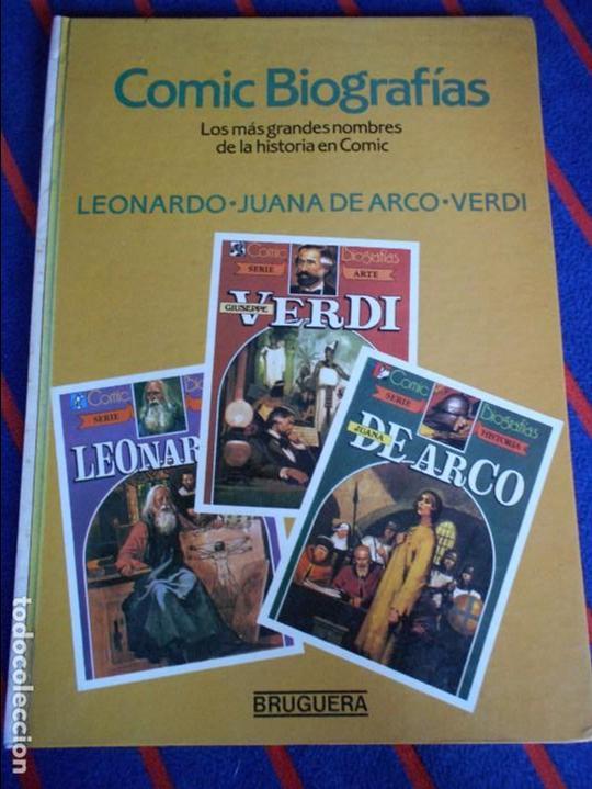 COMIC BIOGRAFIAS. Nº 2. LOS MAS GRANDES NOMBRES DE LA HISTORIA EN COMIC. LEONARDO. JUANA DE ARCO. VE (Tebeos y Comics - Bruguera - Otros)