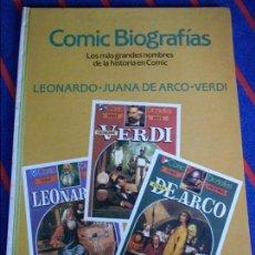 Tebeos: COMIC BIOGRAFIAS. Nº 2. LOS MAS GRANDES NOMBRES DE LA HISTORIA EN COMIC. LEONARDO. JUANA DE ARCO. VE. Lote 100747391