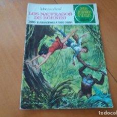 Tebeos: LOS NÁUFRAGOS DE BORNEO. MAYNE REID. BRUGUERA. JOYAS LITERARIAS. N° 110. SEGUNDA EDICIÓN. 1977. Lote 101744591