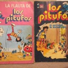 Tebeos: LOS PITUFOS EL SORTILEGIO DE MALASOMBRA Y LA FLAUTA DE LOS PITUFOS. Lote 102079583
