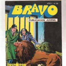 Tebeos: BRAVO. Nº 28. INSPECTOR DAN. Nº 14. BRUGUERA. (Z/C2). Lote 102539427
