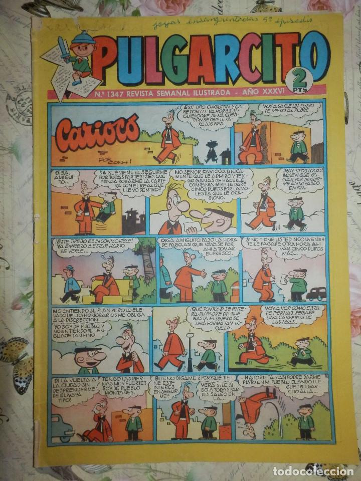 TEBEO - COMIC - PULGARCITO - AÑO XXXVI - Nº 1347 - BRUGUERA - CON AVENTURAS DEL INSPECTOR DAN (Tebeos y Comics - Bruguera - Pulgarcito)