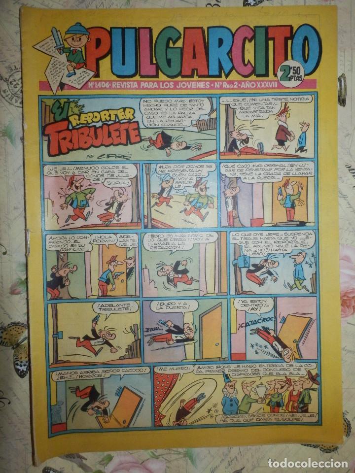 TEBEO - COMIC - PULGARCITO - AÑO XXXVI - Nº 1406 - BRUGUERA - CON AVENTURAS DEL CAPITAN TRUENO (Tebeos y Comics - Bruguera - Pulgarcito)