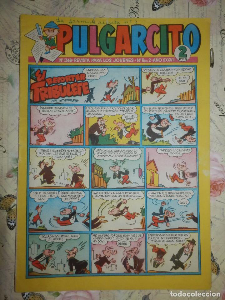 TEBEO - COMIC - PULGARCITO - AÑO XXXVII - Nº 1368 - BRUGUERA - CON AVENTURA DEL INSPECTOR DAN (Tebeos y Comics - Bruguera - Pulgarcito)