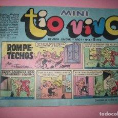 Tebeos: TEBEO - COMIC - MINI TIO VIVO - AÑO I - Nº 4 - EDITORIAL BRUGUERA - AÑO 1975 - PERFECTO ESTADO - VER. Lote 102935951
