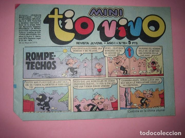 TEBEO - COMIC - MINI TIO VIVO - AÑO I - Nº 19 - EDITORIAL BRUGUERA - AÑO 1975 - PERFECTO ESTADO VER (Tebeos y Comics - Bruguera - Tio Vivo)