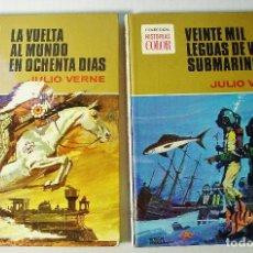 Tebeos: 2 TOMOS DE HISTORIAS COLOR. SERIE JULIO VERNE. LA VUELTA AL MUNDO.. Y 20.00 LEGUAS..BRUGUERA. Lote 103032067