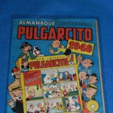 Tebeos: (M9) PULGARCITO ALMANAQUE 1948 , EDT BRUGUERA , LOMO RESTAURADO. Lote 103422427