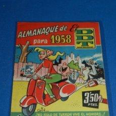 Tebeos: (M6) DDT ALMANAQUE 1958 , EDT BRUGUERA , POCAS SEÑALES DE USO. Lote 103568623