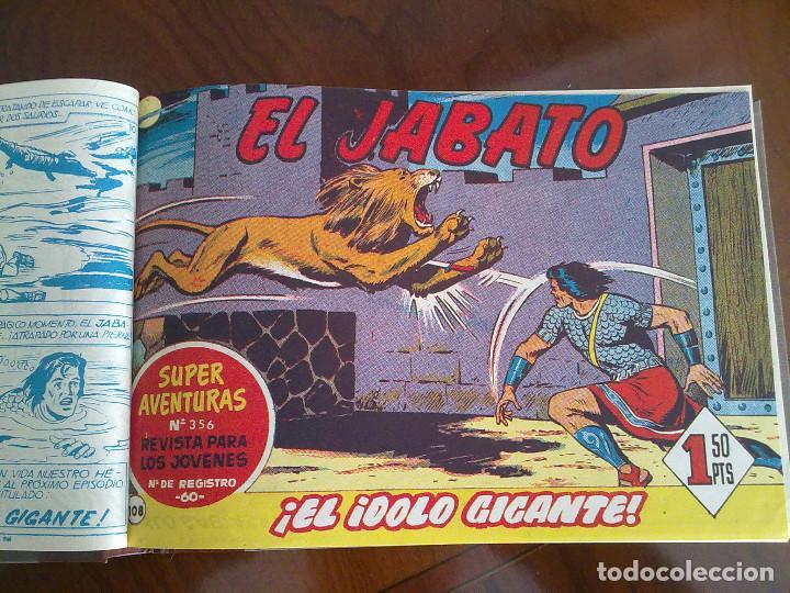 Tebeos: EL JABATO - 53 TEBEOS ORIGINALES APAISADOS ENCUADERNADOS - DEL 106 AL 158 (COMPLETO) - Foto 3 - 103872003