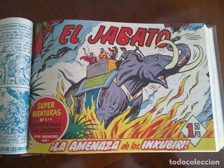 Tebeos: EL JABATO - 53 TEBEOS ORIGINALES APAISADOS ENCUADERNADOS - DEL 106 AL 158 (COMPLETO) - Foto 5 - 103872003