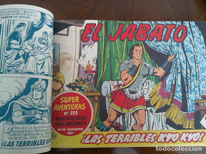 Tebeos: EL JABATO - 52 TEBEOS ORIGINALES APAISADOS ENCUADERNADOS - Foto 2 - 103872315
