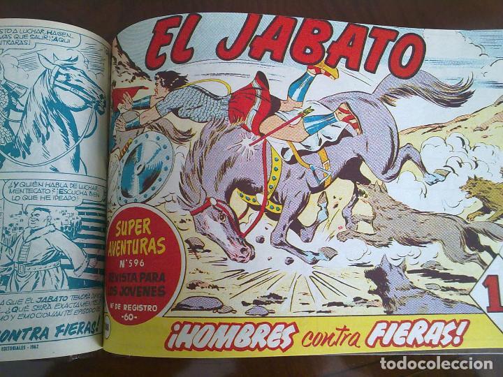 Tebeos: EL JABATO - 50 TEBEOS ORIGINALES APAISADOS ENCUADERNADOS - Foto 2 - 103872727