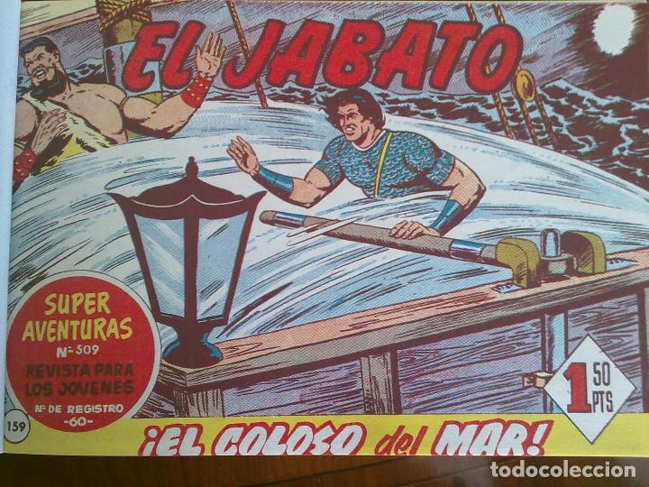 Tebeos: EL JABATO - 50 TEBEOS ORIGINALES APAISADOS ENCUADERNADOS - Foto 4 - 103872727