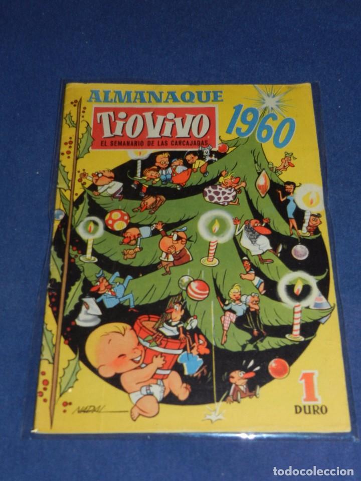 (M10) TIO VIVO ALMANAQUE 1960 , EDT BRUGUERA, SEÑALES DE USO (Tebeos y Comics - Bruguera - Tio Vivo)