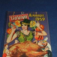 Tebeos: (M10) TIO VIVO ALMANAQUE 1959 , EDT BRUGUERA, SEÑALES DE USO. Lote 103918519