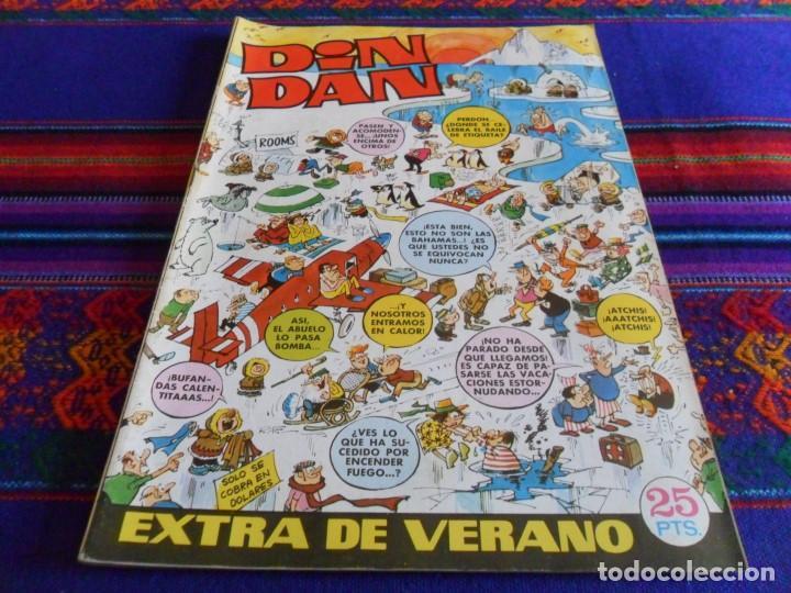 DIN DAN EXTRA VERANO 1972 CON DINERO MORTADELO. BRUGUERA 25 PTS. MUY BUEN ESTADO. (Tebeos y Comics - Bruguera - Din Dan)