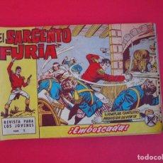 Tebeos: EL SARGENTO FURIA - 22 TEBEOS ORIGINALES DE 1962, DEL 1 AL 22 - J. ESCANDELL - ED. BRUGUERA 1962. Lote 104071259