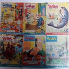 Tebeos: TIO VIVO 1962-63-64 LOTE DE 6 EJEMPLARES ORIGINALES. VER FOTOGRAFÍAS Y DESCRIPCIÓN. Lote 104383623