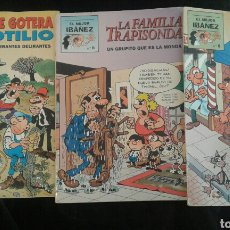 Tebeos: LOTE 3 EL MEJOR IBAÑEZ (LA FAMILIA TRAPISONDA 8, PEPE GOTERA Y OTILIO 4, ROMPETECHOS 6. Lote 104476715