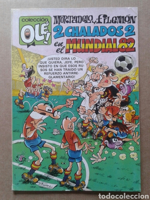 MORTADELO Y FILEMÓN: 2 CHALADOS 2 EN EL MUNDIAL 82. COLECCIÓN OLÉ! N° 242. BRUGUERA, 1982. (Tebeos y Comics - Bruguera - Ole)