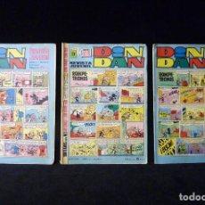 Tebeos: LOTE 3 NÚMEROS DIN DAN, II ÉPOCA. BRUGUERA, 1968-69. Lote 104735875