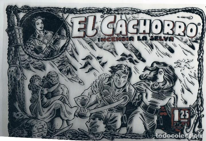 FOTOLITO PORTADA COMIC EL CACHORRO. INCENDIA LA SELVA (Tebeos y Comics - Bruguera - El Cachorro)