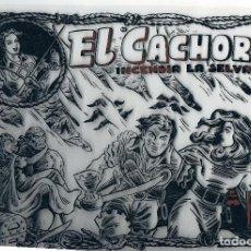Tebeos: FOTOLITO PORTADA COMIC EL CACHORRO. INCENDIA LA SELVA. Lote 105110555