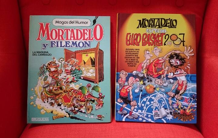 MORTADELO Y FILEMON.LOTE 2 CÓMIC.LA MÁQUINA DEL CAMBIAZO+ ESPECIAL EURO BASKET 2007 (Tebeos y Comics - Bruguera - Mortadelo)