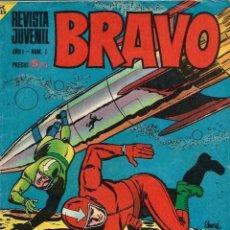 Tebeos: BRAVO - BRUGUERA 1968 - LOTE DE 42 NUMEROS - COLECCION CASI COMPLETA, A FALTA DE 4 - VER DESCRIPCION. Lote 105654703