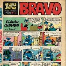 Tebeos: SEMANARIO BRAVO Nº 35 - BRUGUERA 1968 - CON MICHEL TANGUY, BLUEBERRY, TOPOLINO - BIEN CONSERVADO. Lote 105655951