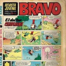 Tebeos: SEMANARIO BRAVO Nº 44 - BRUGUERA 1968 - ULTIMOS NUMEROS - MUY DIFICIL - BIEN CONSERVADO. Lote 105656099